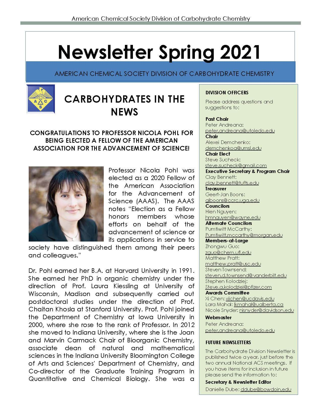 ACS CARB spring 2021 newsletter