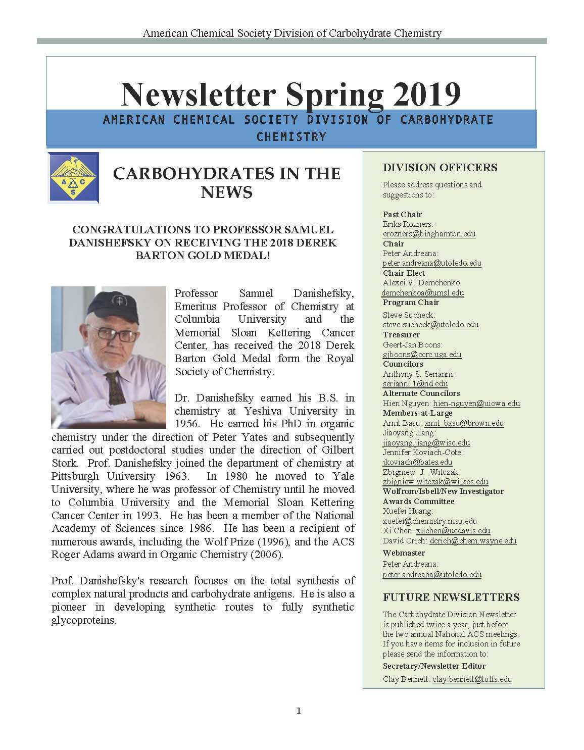 CARB Newsletter Spring 2019